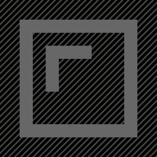left, square, top icon