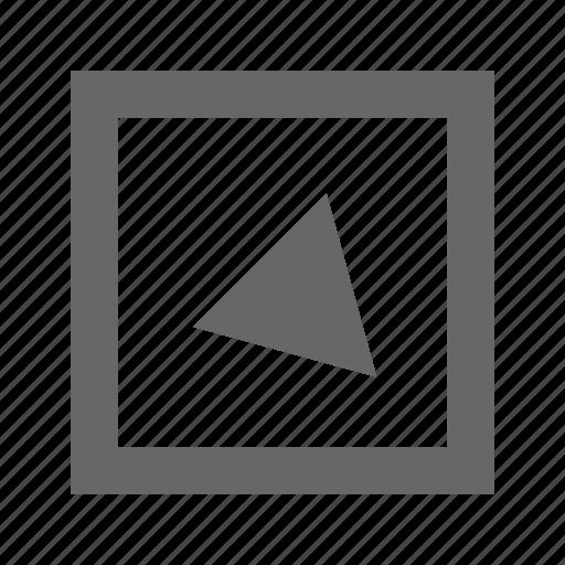 alt, bottom, right, square, triangle icon