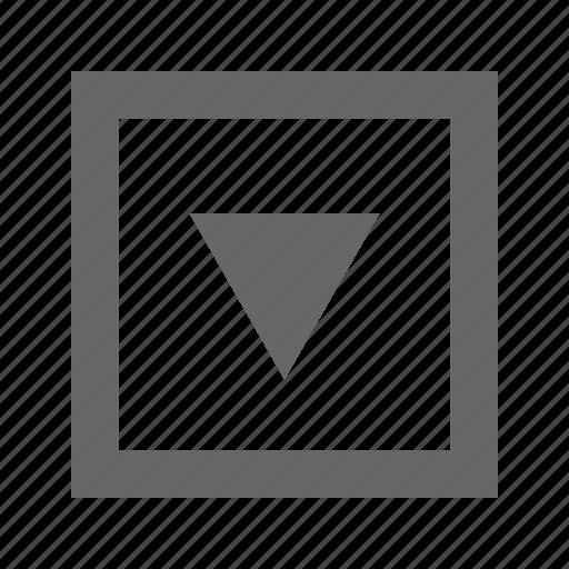 alt, down, square, triangle icon