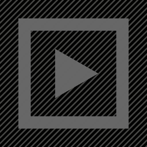 forward, media, multimedia, next, play, right, triangle icon