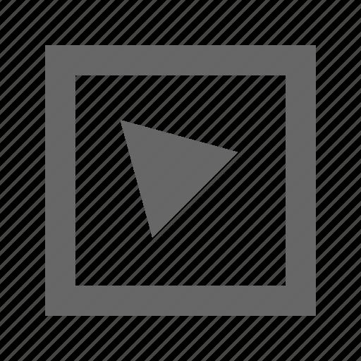alt, left, square, top, triangle icon