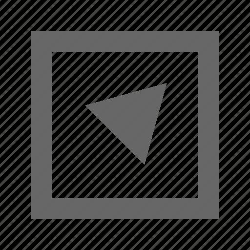 alt, right, square, top, triangle icon