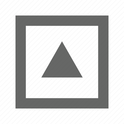 alt, square, top, triangle, up, upload icon