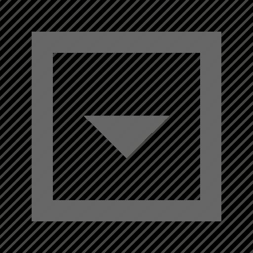 down, square, triangle icon