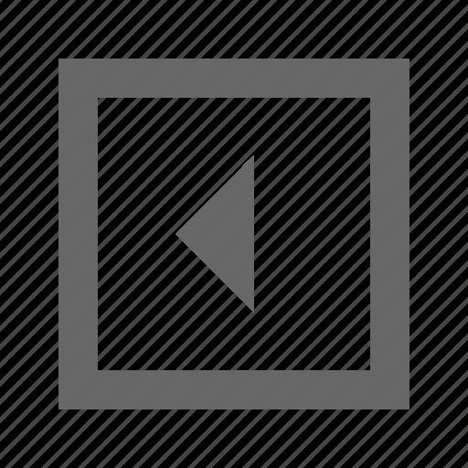 left, square, triangle icon