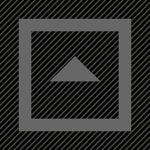 square, triangle, up icon