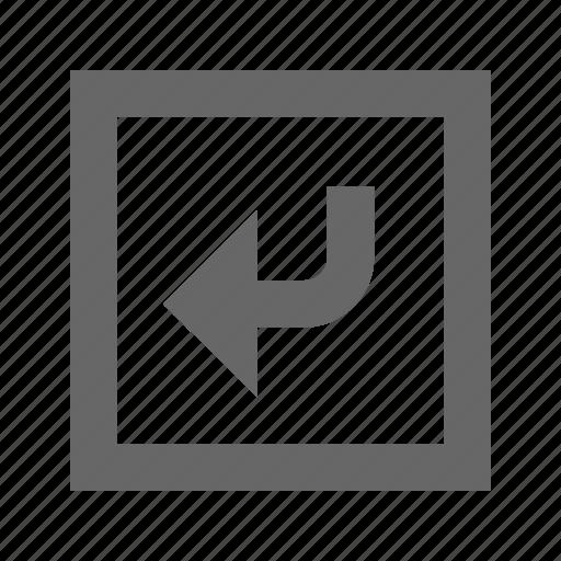 left, right, square, turn icon
