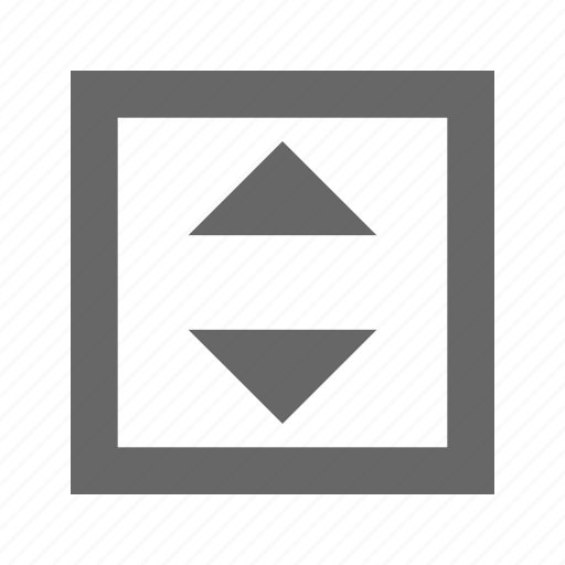 down, square, up icon
