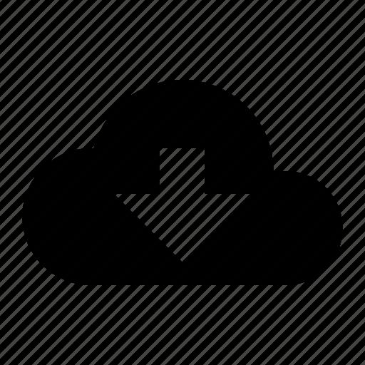 cloud, download, internet, sharing, storage icon