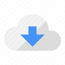 cloud, download, internet, sharing, storage icon
