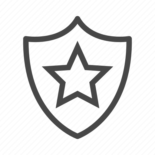 award, prize, security, shield, star, trophy, winner icon