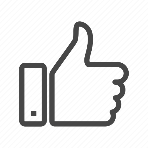 favorite, feedback, hand, like, positive, thumb up, up icon