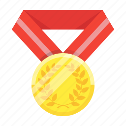 achievement, awards, gold, medal, star, trophy, winner icon
