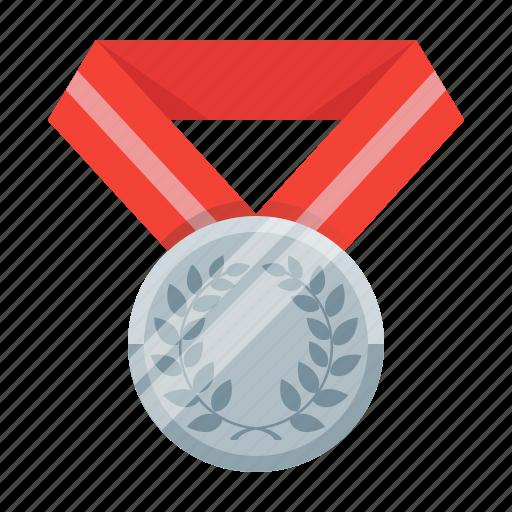 achievement, awards, best, medal, silver, trophy, winner icon