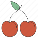 cherry, food, fresh, fruit, healthy, organic, sweet icon