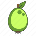 food, fruit, guava, healthy, organic, sweet, tropical icon