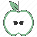 apple, food, fresh, fruit, healthy, organic, tropical icon