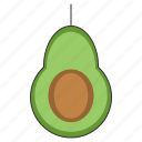 avocado, food, fresh, fruit, healthy, organic, tropical icon