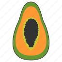 food, fresh, fruit, healthy, organic, papaya, tropical icon