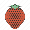food, fruit, healthy, organic, strawberry, sweet, tropical icon