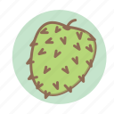 fruit, soursop, tropical icon