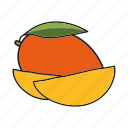 fruit, mango, tropical icon