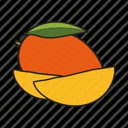 fruit, mango, tropical icon
