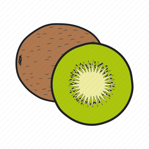 fruit, kiwi, kiwifruit, tropical icon