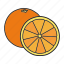citrous, citrus, lemon, lime, orange, tropical icon