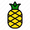 fresh, fruit, pineapple, tropical icon