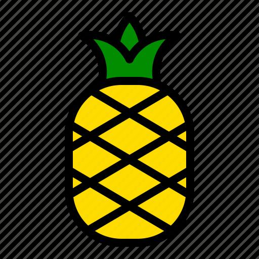 fresh, fruit, pineapple, tropical icon