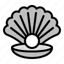 animal.pearl, seashell, tropical icon