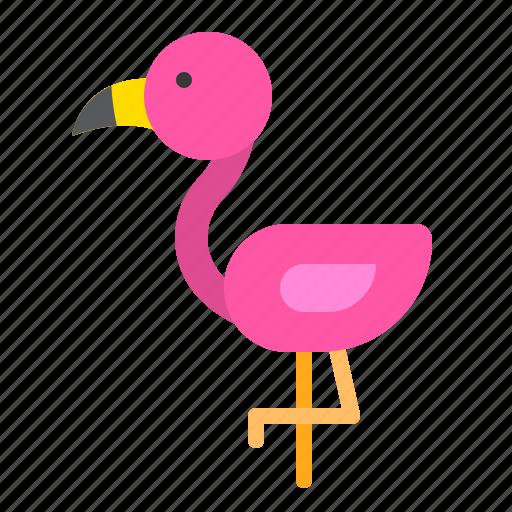 animal, bird, flamingo, tropical icon