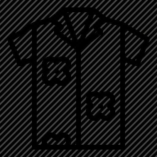 clothes, garment, shirt, summer, tropical icon