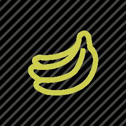 banana, food, fruit, tropical icon