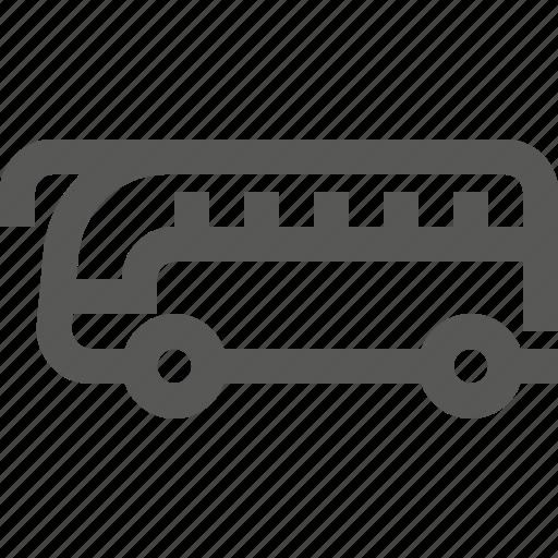 autobus, bus, transport, transportation, vehicle icon