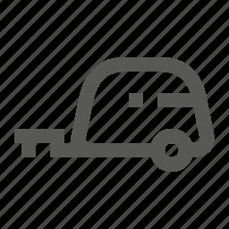 camper, caravan, trailer, transport, transportation, travel, vehicle icon
