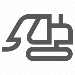 caterpillar, construction, digger, equipment, excavator, vehicle icon