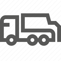 dump, garbage, hopper, lorry, tiper, transportation, truck icon