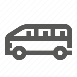 bus, delivery, minibus, passanger transportation, shiping, transport, vehicle icon