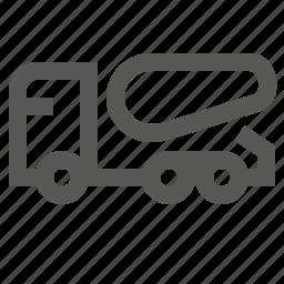 cement, concrete, dump, mixer, tiper, transportation, truck icon