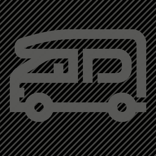 bus, camper, delivery, icecream, minibus, refrigerator, vehicle icon