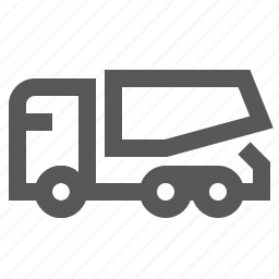 delivery, dump, hopper, lorry, tiper, transportation, truck icon