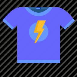 label, print, shock, teenager, tshirt, wear icon