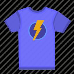 man, print, shock, tshirt, wear icon