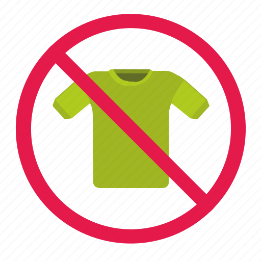 cancel, delete, dress, dresscode, man, tshirt, wear icon