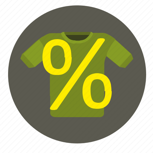 economic, percent, sale, shopping, tshirt, wear icon