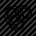 food, onion ring, outline, set, tukicon