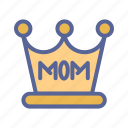 crown, day, mother, tukicon icon