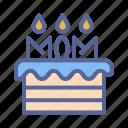 cake, day, mother, tukicon icon